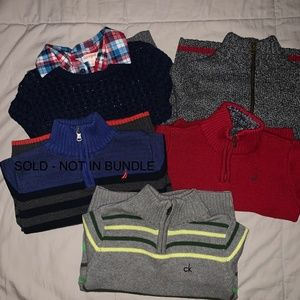 Closet Clean out! 4 Boys Warm Sweaters